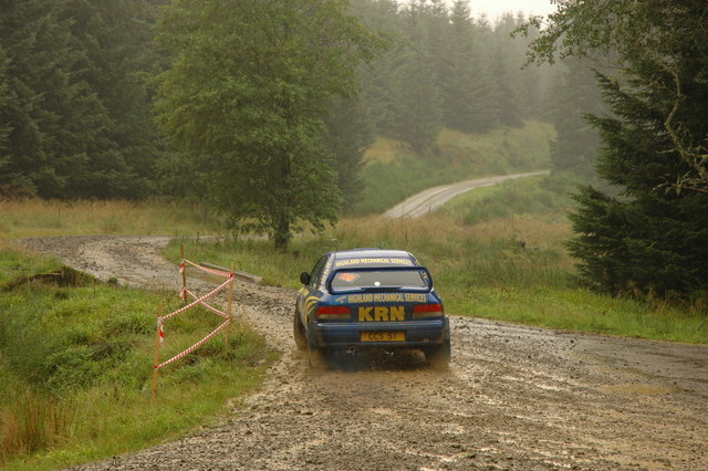 Rally car in Clashindarroch Forest