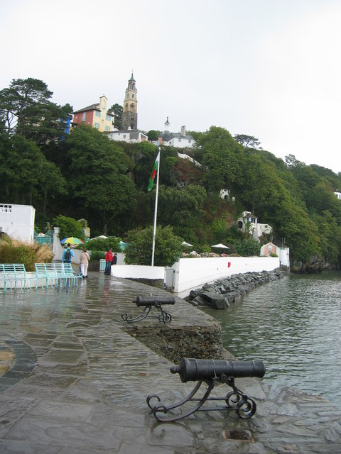 Portmeirion, from the hotel quayside