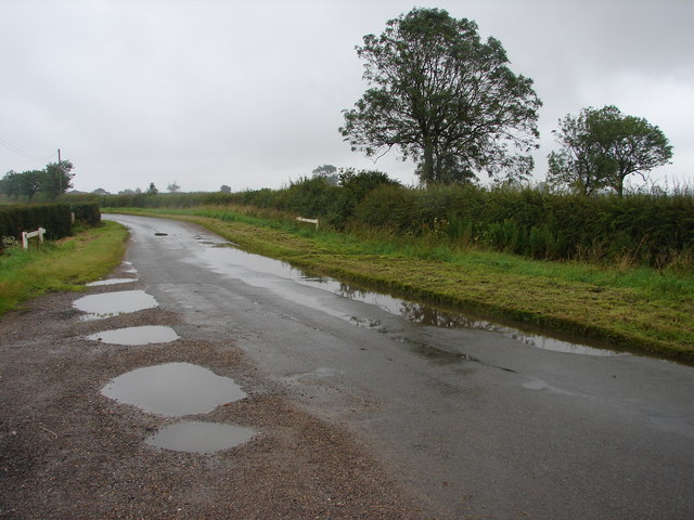 Road Bend and Puddles
