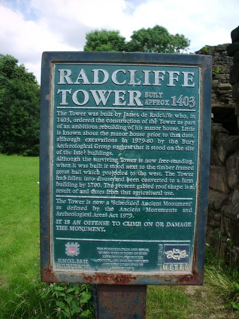 Plaque, Radcliffe Tower