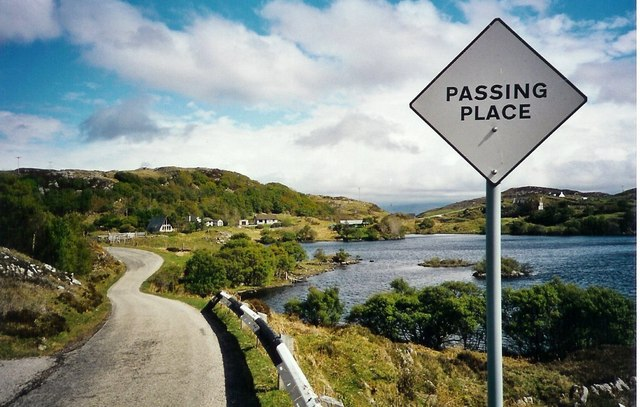 Passing place near Drumbeg