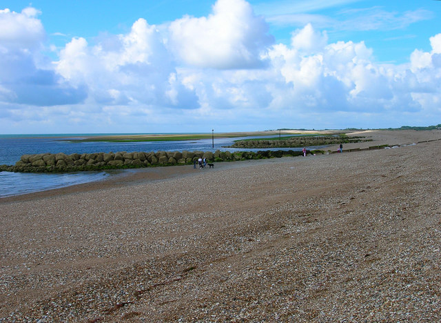 Pagham Beach and Harbour Entrance