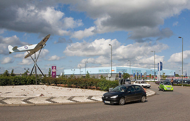 Roundabout leading to Mitchell Way, Eastleigh