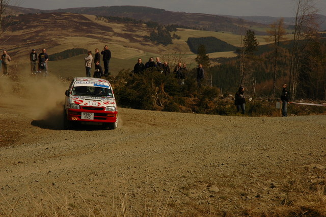 Rally car in Tornashean Forest