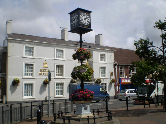 Clock and the Bell Hotel Driffield