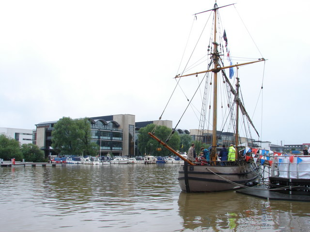 Brayford Pool and Lincoln University Buildings during Lincoln Waterfront Festival