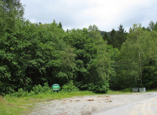 Parking area at Coedwig Hermon Forest