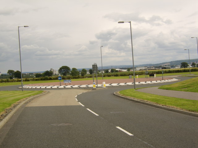 Roundabout in Inchinnan Business Park