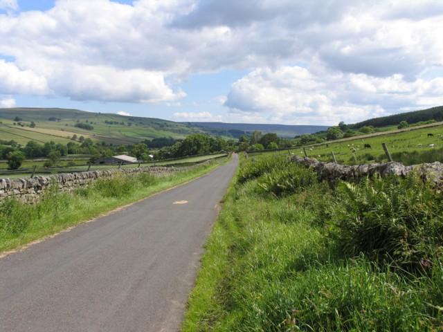 Road towards Stanhope