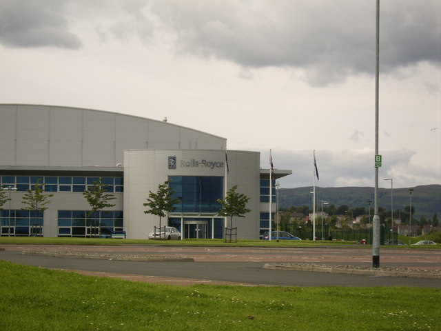 Main entrance to Rolls-Royce factory, Inchinnan