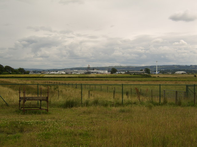 View to Glasgow Airport from Inchinnan Business Park