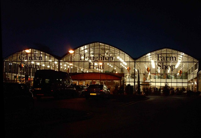 Houghton Hall Garden Centre by night