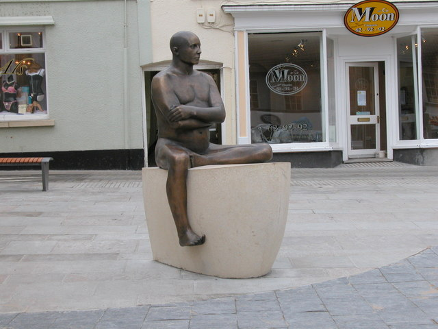 """Chepstow's """"fisherman"""" in Bank Square"""
