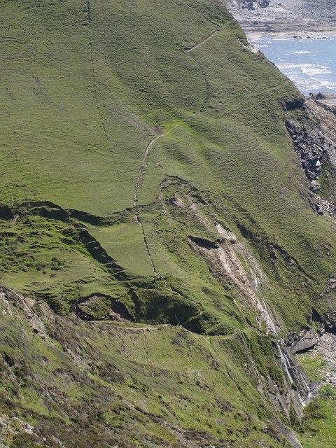 Coast path at Scrade Water