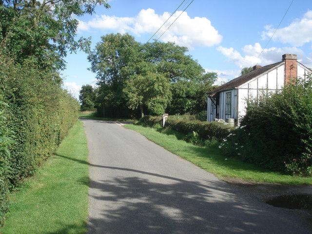 Lane junction at Saleway