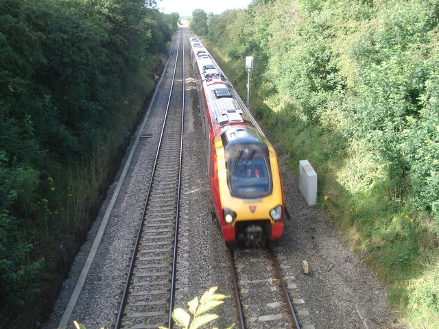 Speeding train at Dunhampstead - 1