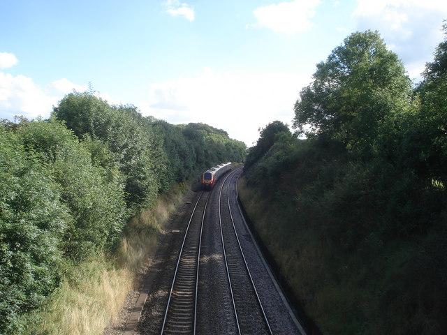 Speeding train at Dunhampstead - 2