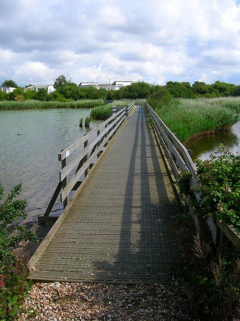 Footbridge, Pagham Lagoon