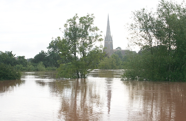 July 2007 Flood - Upton Church of St Peter and St Paul's