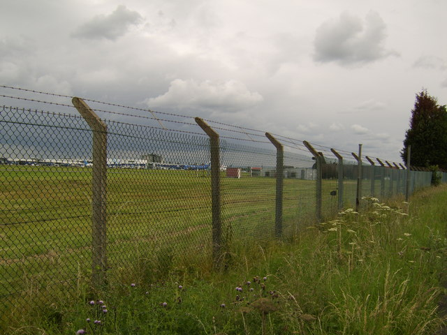 Perimeter fence at Glasgow Airport