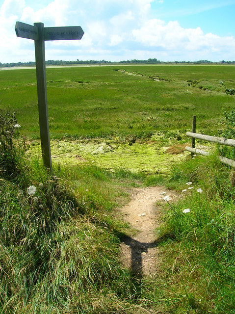 Footpath Junction, Pagham Harbour