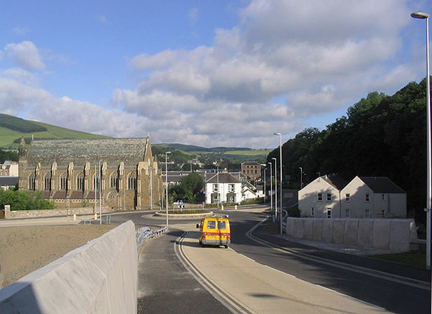 The new Station Brae Road in Galashiels