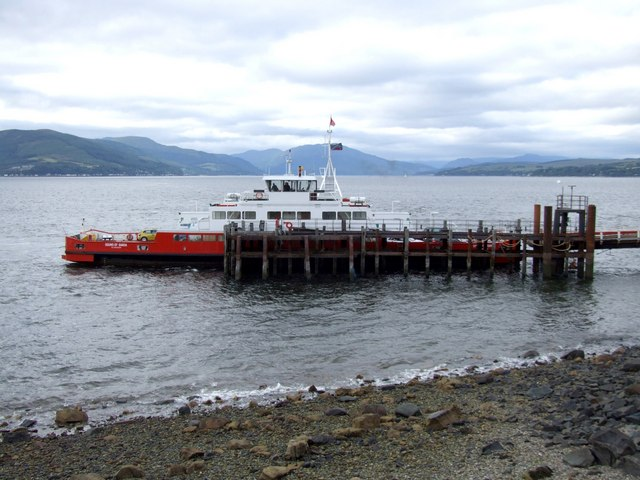 Ferry at McInroys Point Pier, Gourock