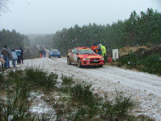 Rally cars at Strathrory