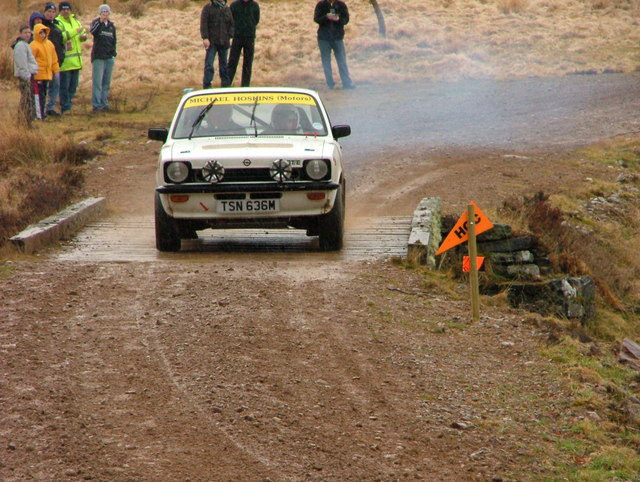 Rally car at Strathrory
