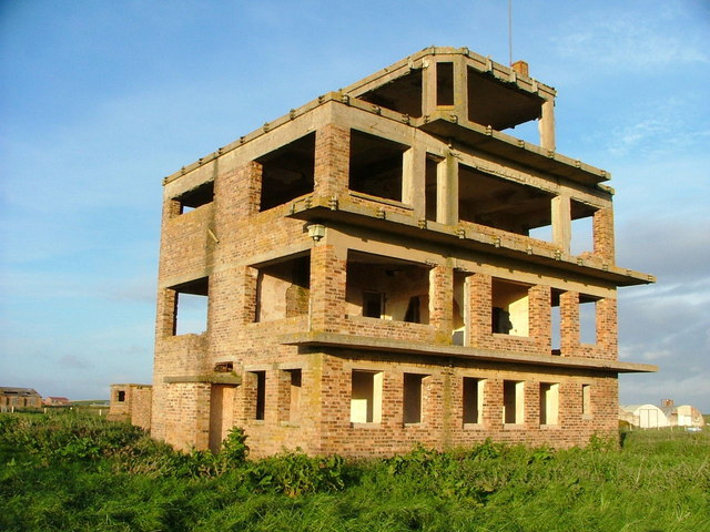 Abandoned WW2 tower at Fearn Airfield
