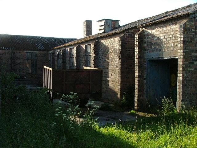 Derelict WW2 buildings by Lochslin