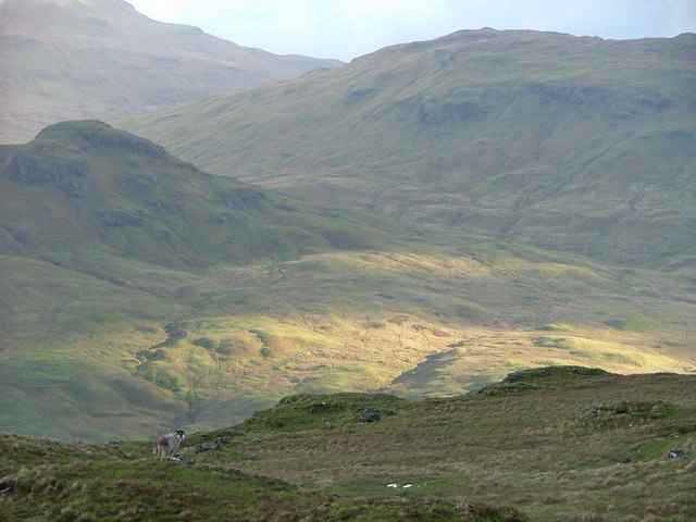 Track above Beinglas
