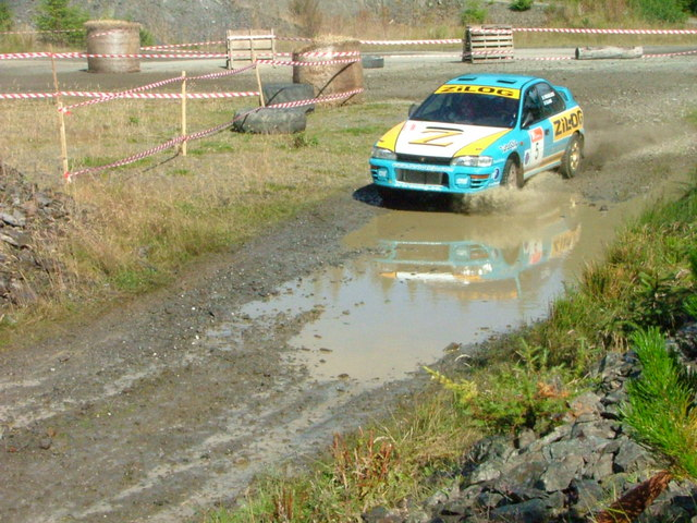 Rally car on part of the Gartly forest track