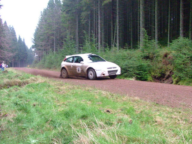 Rally car in South Drumtochty forest