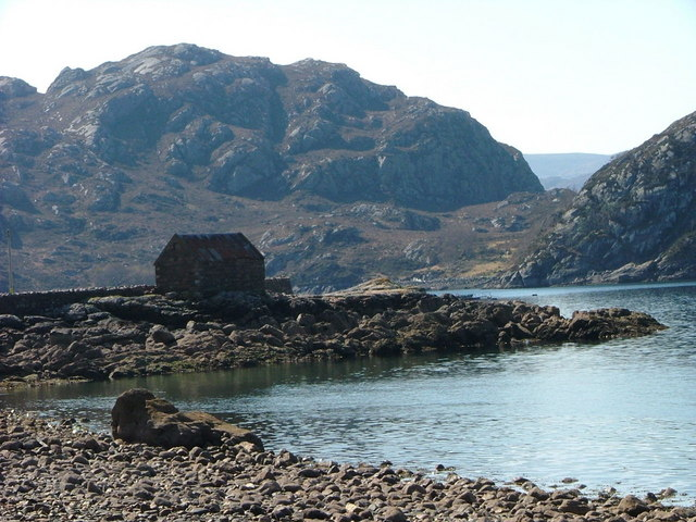 Building on the pier at Lower Diabaig
