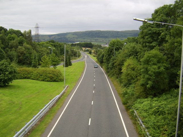 Looking north on the A726