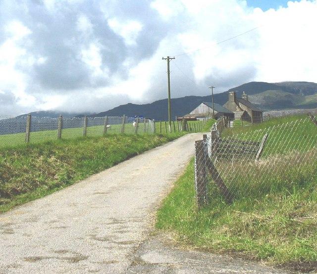 Farm road to Coed-cae-du