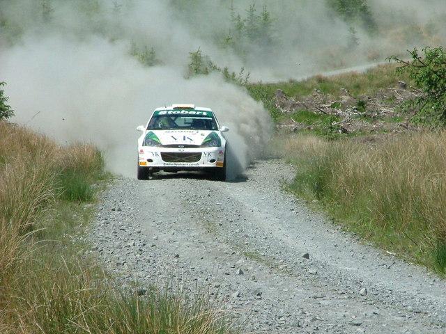 Rally car near Arroch Hill