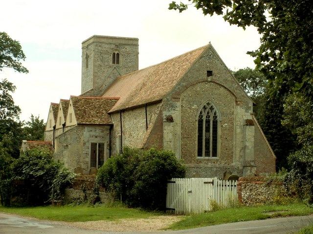 St. Augustine's church at Burrough Green