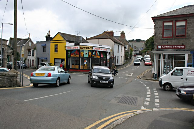 Road Junction at the Centre of Newlyn