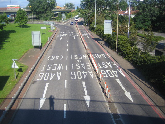M1 Motorway: Junction 1 & A406 North Circular Road