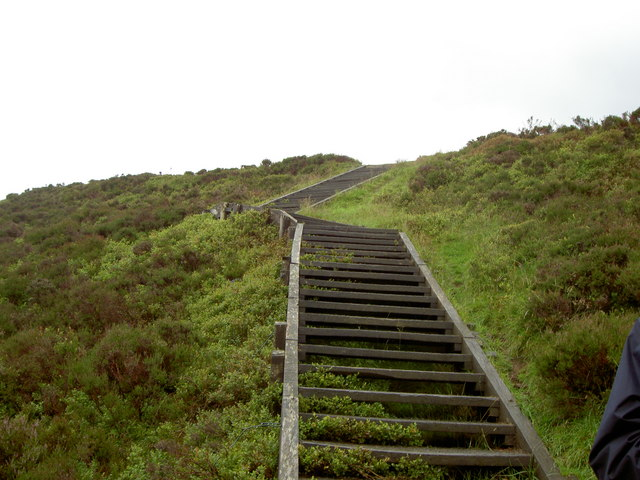 Footpath leading to the summit of Foel Fenlli.