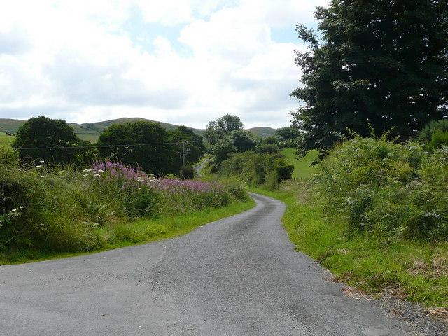 The road past Bennan farm junction