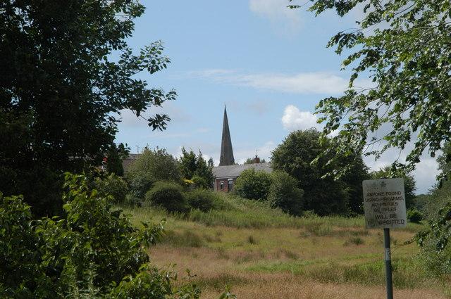 St Luke`s  church from a distance