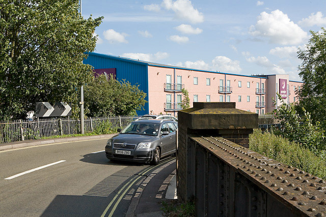 Wide Lane Bridge and Premier Travel Inn, Eastleigh