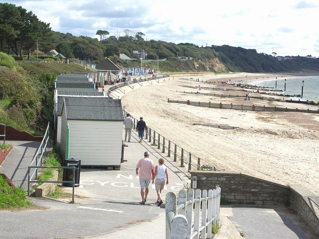 Friars Cliff Beach looking East