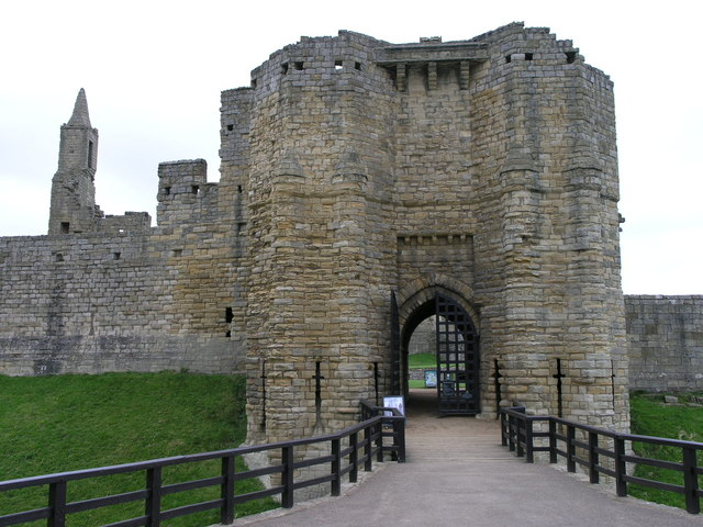 Warkworth Castle. Main Gate.