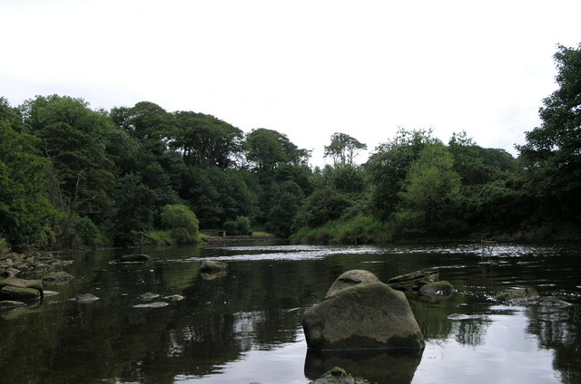 River Coquet. Warkworth.
