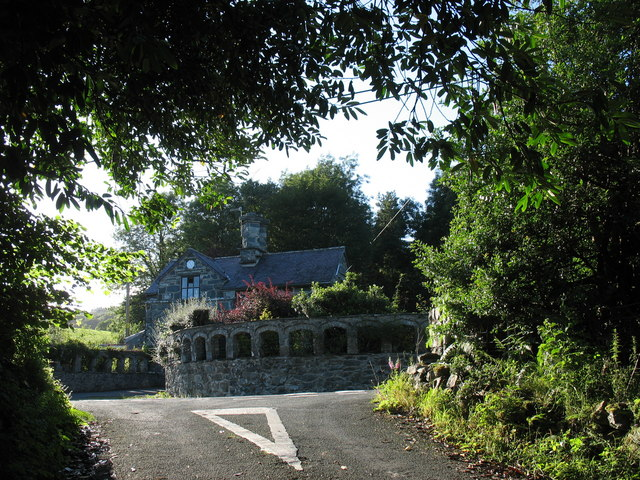 The road junction by the Nannau gatehouse