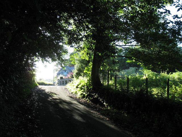 The Nannau Gatehouse from the minor road